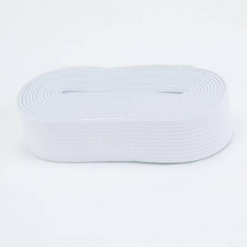 Coupon 2m50 élastique souple blanc 35 mm