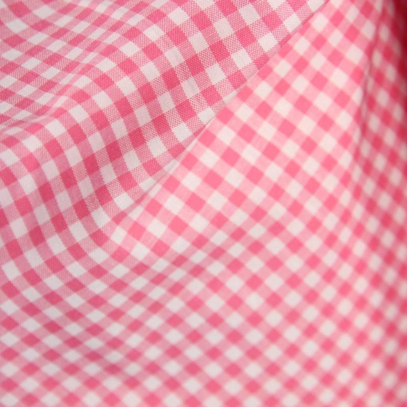 Coton vichy rouge 5 mm