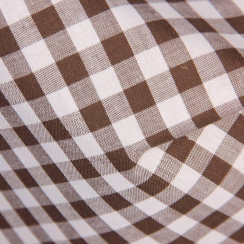 Tissu coton vichy chocolat 10 mm