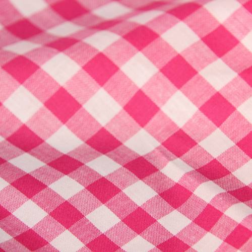 Coton vichy fushia10 mm