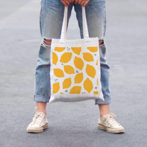 Coupon 45x45 cm toile canvas citron