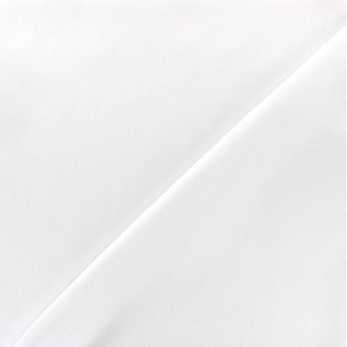 Tissu microfibre uni blanc cassé