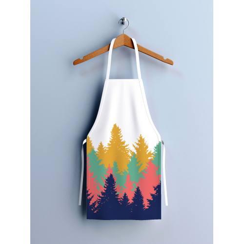 Kit canvas pour tablier motif forêt multicolore