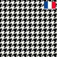 Velours D Habillement Motif Grand Pied De Poule Noir Et Blanc Tissus Price