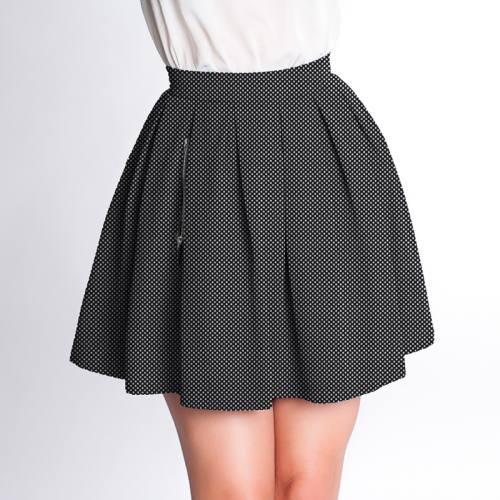 Velours d'habillement motif pois noir et blanc