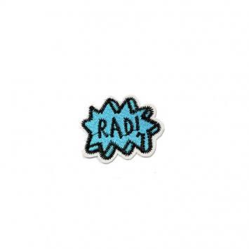 """Écusson bleu brodé """"RAD"""" noir"""