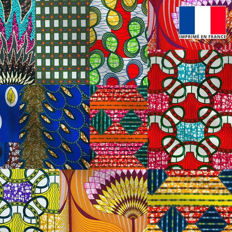 Lycra motif wax multicolore