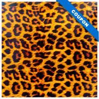 Coupon 50x68 cm - Simili cuir or à paillettes motif léopard