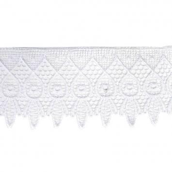 Ruban dentelle guipure 9 cm blanche