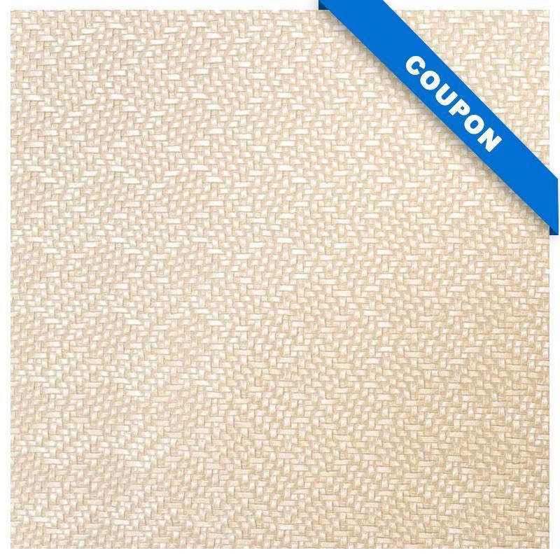 Coupon 50x68 cm - Simili cuir imitation tressage nacré