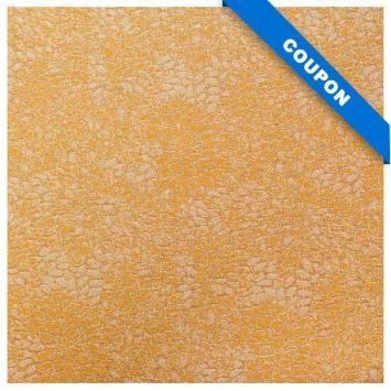 Coupon 50x68cm - Tissu jacquard ocre avec fil argenté