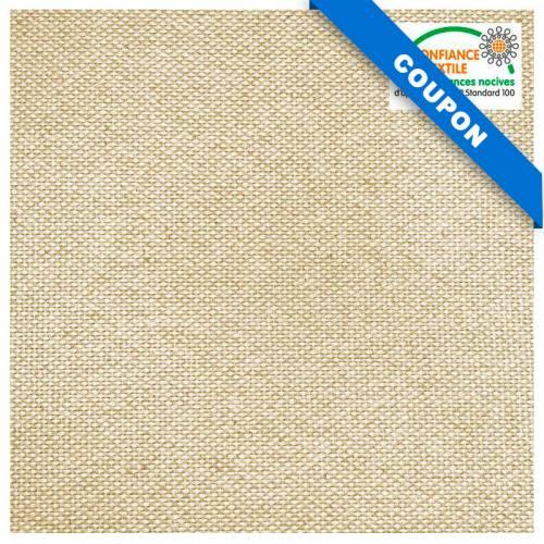 Coupon 50x149 cm - Toile coton bio épaisse naturelle