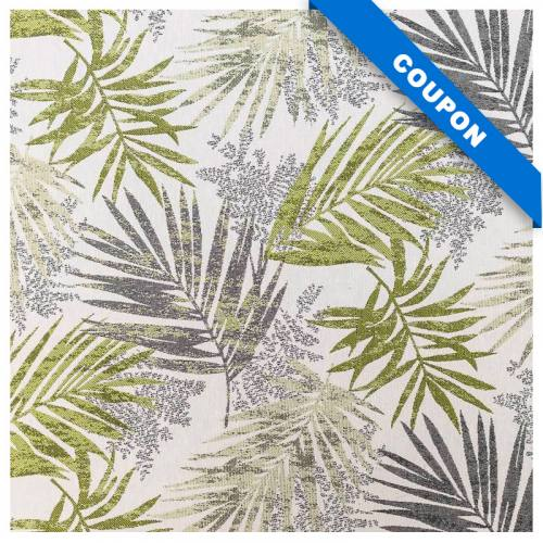Coupon 50x68 cm - Jacquard jungle excelsa vert et gris