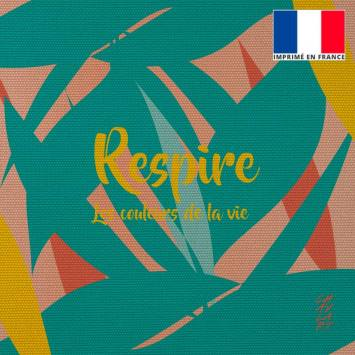 Coupon 45x45 cm toile canvas Respire - Création Chaylart