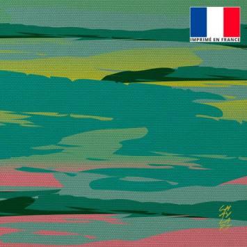 Coupon 45x45 cm motif Vivre - Fond - Création Chaylart