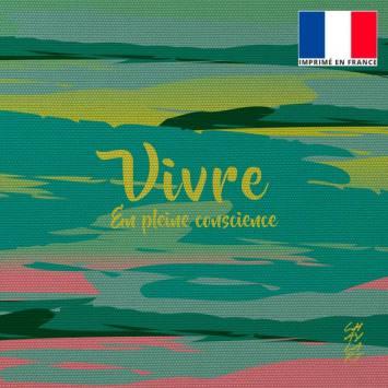 Coupon 45x45 cm toile canvas Vivre - Création Chaylart