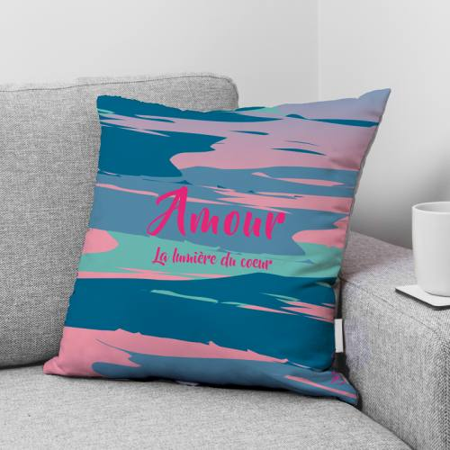 Coupon 45x45 cm toile canvas Amour - Création Chaylart