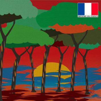 Coupon 45x45 cm motif Sous les Pins - Création Chaylart