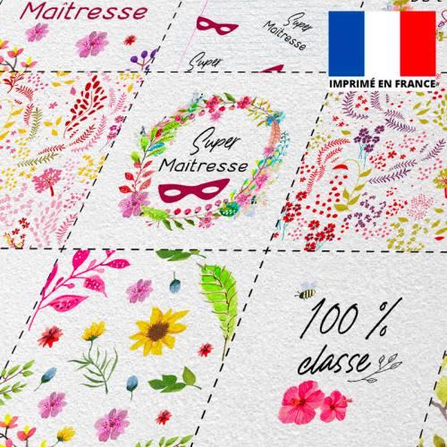 Coupon éponge pour lingettes démaquillantes motif maîtresse flowers