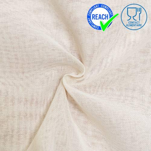 Tissu étamine de coton naturel spécial contact alimentaire