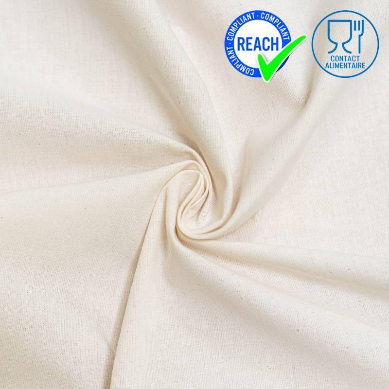 Tissu coton naturel spécial contact alimentaire