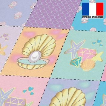 Coupon éponge pour lingettes démaquillantes motif pretty ocean