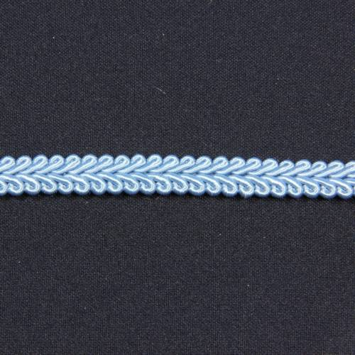 Ruban tressé bleu 10 mm