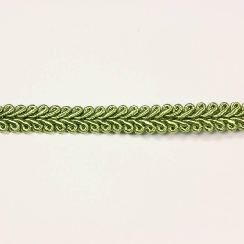 Ruban tressé vert amande 10 mm