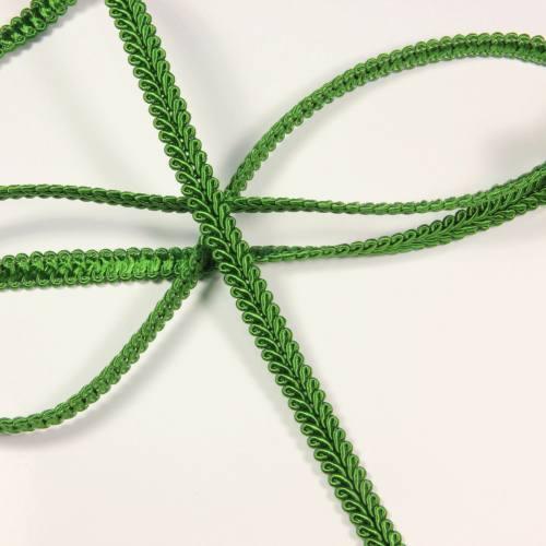 Ruban tressé vert 10 mm