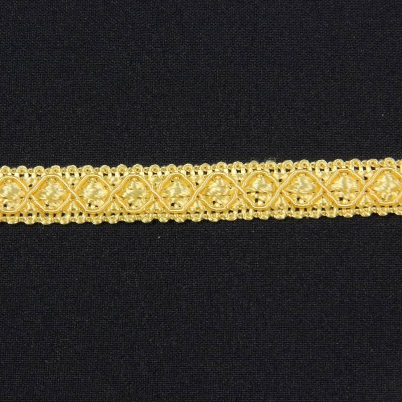 Ruban 12 mm jaune clair à motifs