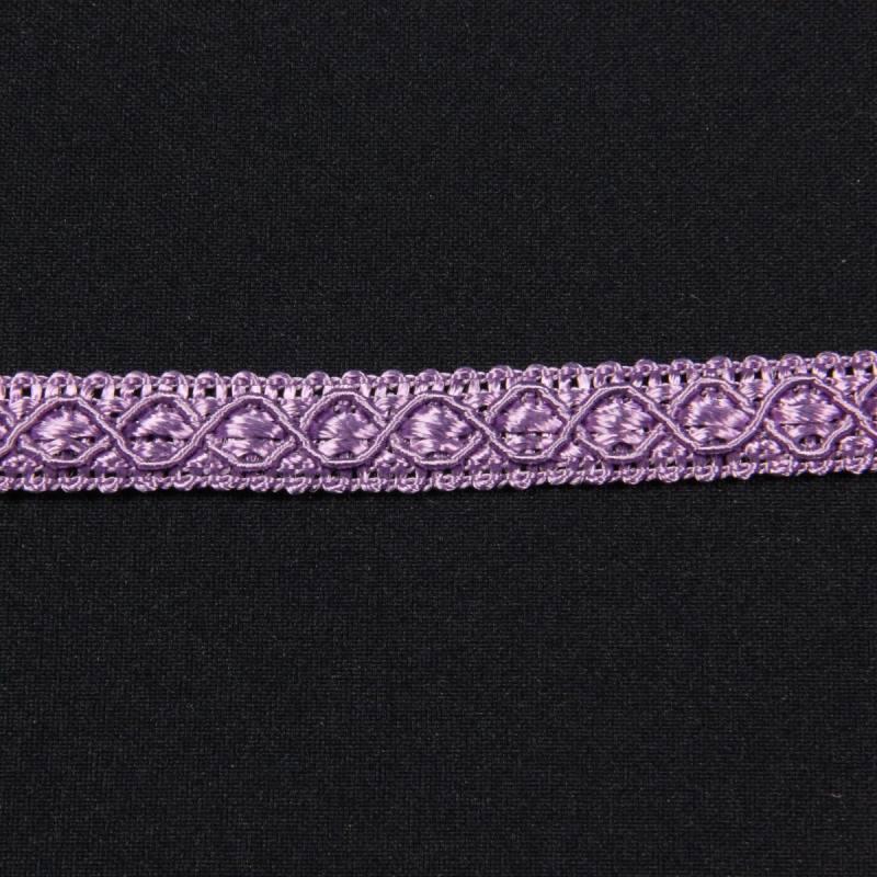Ruban 12 mm lilas à motifs