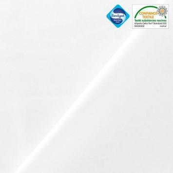 coupon - Coupon 46cm - Tissu coton blanc antibactérien