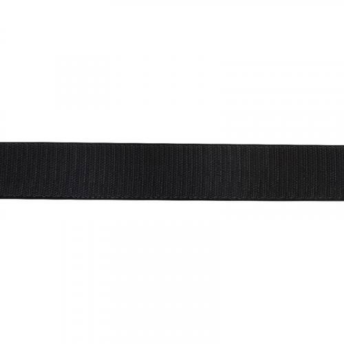 Rouleau 25m Auto-agrippant à coudre crochet 16 mm noir