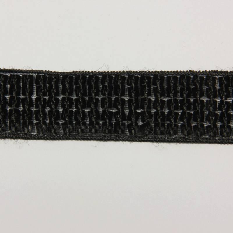 Galon paillettes carrées noir