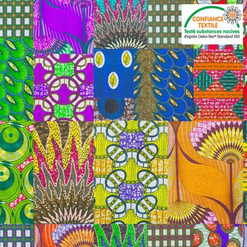 Coton motif wax multicolor