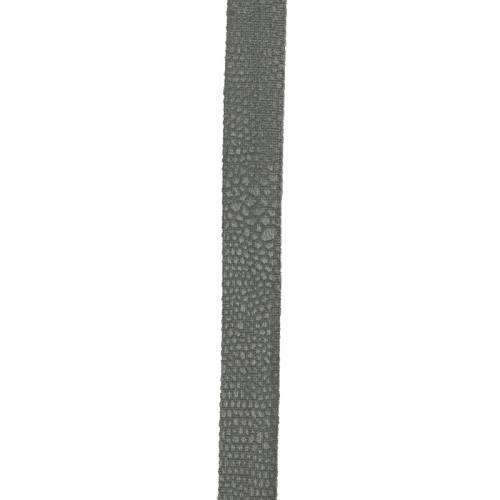 Biais replié velours python gris foncé 20 mm