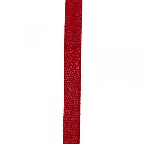 Biais replié velours python rouge 20 mm