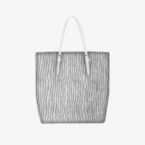 Coupon 50x68 cm - Simili cuir argenté relief effet vague