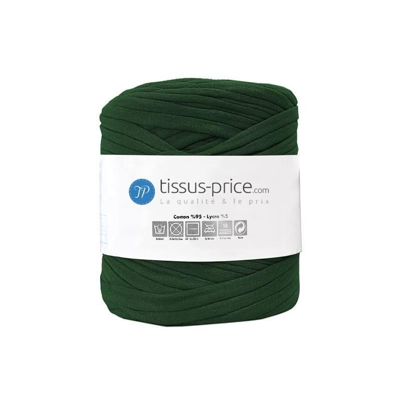 Bobine de fil trapilho vert foncé de 750g
