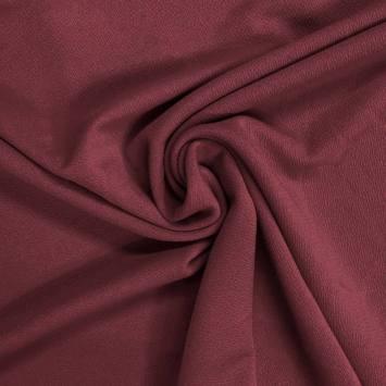 coupon - Coupon 80cm - Tissu crêpe stretch lie de vin