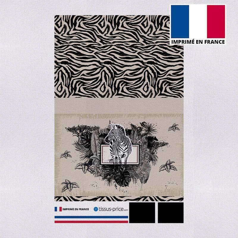 Kit pochette canvas motif zèbre