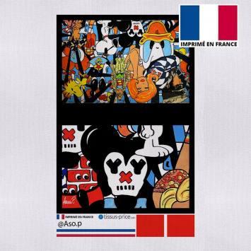Kit pochette canvas motif paff - Création Anne-Sophie Dozoul