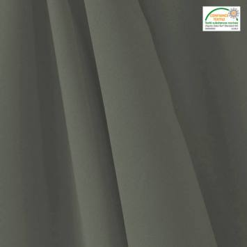 coupon - Coupon 43cm - Tissu occultant grande largeur gris thermique et phonique