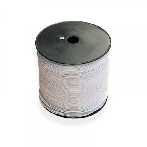 Bobine d'élastique blanc 500M souple 5 mm