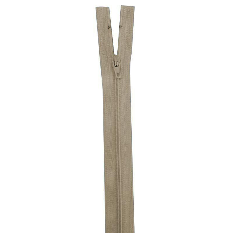 Fermeture vert taupe 25 cm non séparable col 884