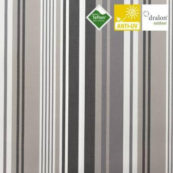 Toile extérieur téflon grande largeur lavandou gris