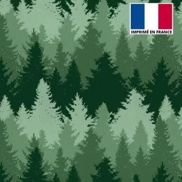 Toile canvas verte motif forêt