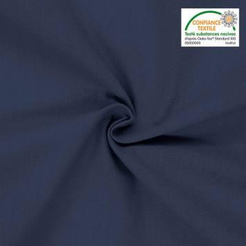 coupon - Coupon 22x204cm - Toile coton bleu marine grande largeur