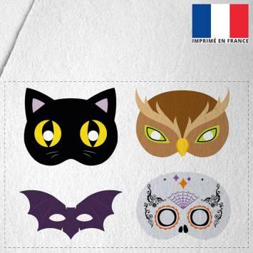 Kit de masques d'Halloween en feutrine - Animaux et calavera