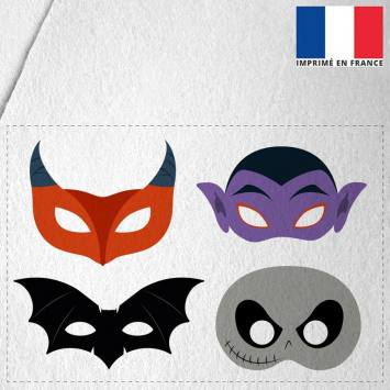 Kit de masques d'Halloween en feutrine - Monstres